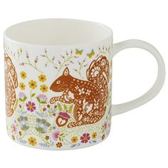 Woodland Squirrel Bone China Mug