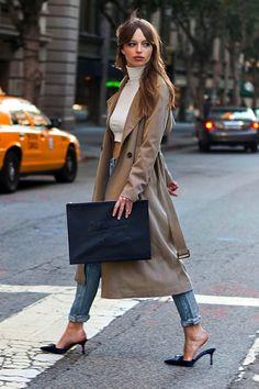 Le Fashion Blog MODERN FRANÇOISE HARDY | TRENCH COAT + DISTRESSED DENIM