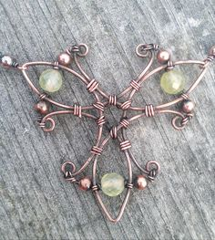 wire wrapped copper necklace
