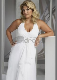 Prom Dresses 2012 Amazing Plus Size Halter Floor Length Chiffon Summer Wedding Dress , You will find many long prom dresses and gowns from the top formal dress designers and all the dresses are custom made with high quality Plus Size Brides, Plus Size Gowns, Plus Size Wedding, Second Wedding Dresses, Wedding Dress Chiffon, Pregnant Wedding Dress, Maternity Wedding, Designer Formal Dresses, Glam Dresses