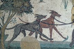 Mosaic with dogs. historum website