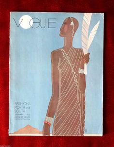 Vogue Magazine January 1 1933 Benito Art Deco | eBay