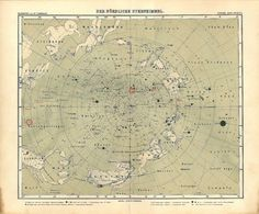 1911 Star Map Northern Hemisphere Astronomy by CarambasVintage, $85.00