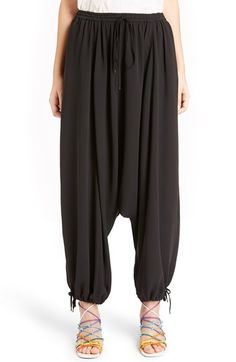 CHLOÉ Drawstring Silk Genie Pants. #chloé #cloth #