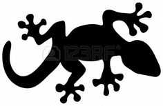 Simplistic lizard for stencil