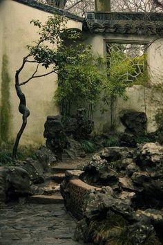 15 Most Popular Asian Garden Design Inspiration for Your Backyard - Home Bigger Chinese Architecture, Landscape Architecture, Landscape Design, Chinese Courtyard, Chinese Garden, Chinese Landscape, Fantasy Landscape, Garden Images, Japanese House