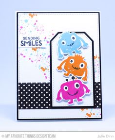 Monster Love Stamp Set and Die-namics, Distressed Patterns Stamp Set, Traditional Tags STAX Die-namics, Stitched Traditional Tag STAX Die-namics - Julie Dinn #mftstamps