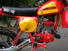 1978- Close-up of Moto-X-Fox modified Honda CR250R