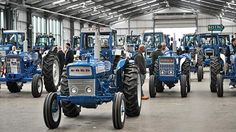 Classic Ford tractors rally at Blue Force demo - Farmers Weekly