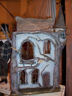 haunted tree house!... paper-mache by M.D.Tereck