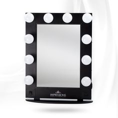 Impressions Vanity Hollywood Glamour Lighted Vanity Mirror Black