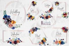 Colourful Boho wedding Boho Wedding, Wedding Suite, Wedding Shower Invitations, Floral Invitation, Floral Wall, Line Design, Design Bundles, Frame, Crafts