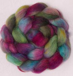 Hand painted Spinning wool, Masham, hand painted roving, fibre for felting, hand dyed fibre  felting fiber, Colour Indulgent by YummyYarnsUK on Etsy