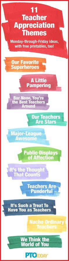 Get our teacher appreciation week theme ideas (and free printables, too!)