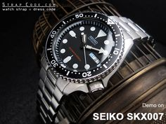 Five 316L Stainless Steel watch band are demo on Seiko SKX007 Diver's watch – Strapcode