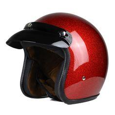 Nieuwe Retro Vintage Motorhelm 3/4 Open Gezicht Half Helm Cruiser Touring Chopper Biker Cafe Racer Moto Helm DOT
