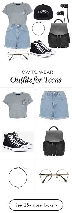 """I NEED SPACE"" by as-pretty-as-the-moon on Polyvore featuring New Look, Topshop, Converse, Dogeared, rag & bone and Vans"