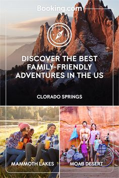 Set off on your family adventure with Booking.com. Whether you're looking to hike the trails of Colorado Springs, hit the powder of California's Mammoth Lakes ski resort or conquer the bike trails of Utah's iconic Moab desert, Booking.com has a huge selection of extraordinary family-friendly destinations. Rv Travel, Summer Travel, Travel Bugs, Travel With Kids, Family Travel, Vacation Places, Vacation Destinations, Vacation Trips, Dream Vacations