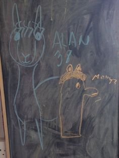 Molly (7) and Alan (38) doodled these fab alpacas!