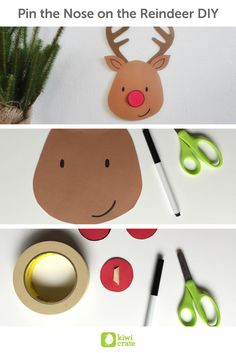 Pin the Nose on the Reindeer DIY! For last minute party fun, I love this quick and easy holiday game. It's fun for the younger kids in the group and hilarious to watch in action!