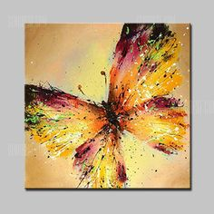 Just $54.31, buy Mintura Butterfly Canvas Oil Painting Home Decor online shopping at GearBest.com Mobile.