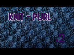 Left Diagonal   Knit & Purl Stitch Combinations #2