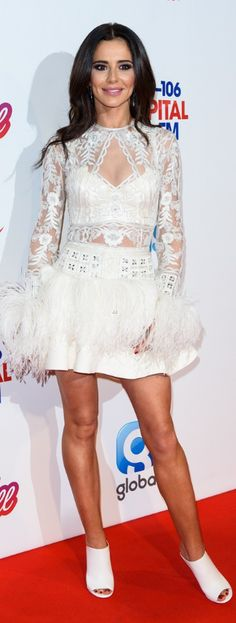 Dress – Zuhair Murad Similar style dresses by the same designer !function(doc,s,id){ var e, p, cb;getElementById(id)) { e = doc.createElement(s); cb = new Date(). Cheryl Cole Style, Zuhair Murad Dresses, Fashion Dictionary, Feather Dress, White Feathers, Red Carpet Fashion, Celebrity Style, Fashion Dresses, Singer