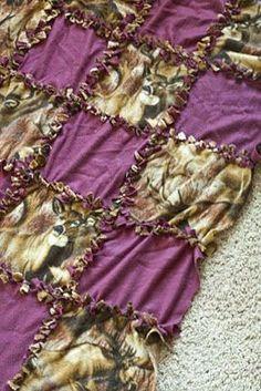 Simply In A Fish Bowl: Quilt Block Fleece Tie Blanket Tutorial