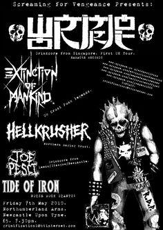 Wormrot(SIN), Hellkrusher(UK), Extinction of Mankind(UK), Joe Pesci(UK), Tide of Iron(UK). Friday 7th May 2010. Newcastle Upon Tyne.