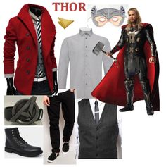 Avengers inspired Men's Halloween Outfits/Costumes for guys who prefer to be more discreet with their fancy dress.