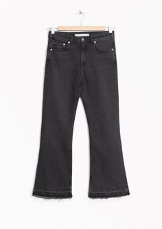 Cropped Flare Denim - Washed Black/Grey - & Other Stories