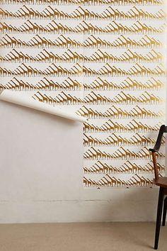 Anthropologie - Glimmering Giraffes Wallpaper