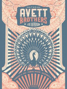 The Avett Brothers Poster   by Justin Helton    http://statusserigraph.bigcartel.com/