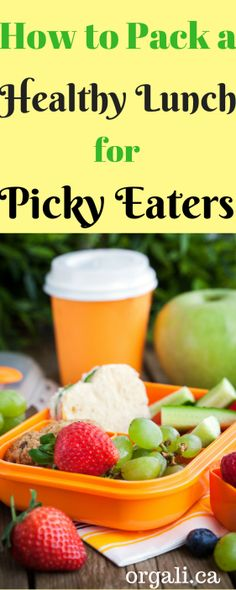 How to Pack a Healthy Lunch for Picky Eaters. Even the pickiest eater will love their lunch!