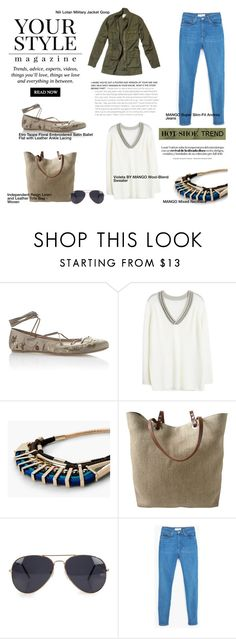 """So Stylish: Ankle Wrap Flats"" by nahed-samer ❤ liked on Polyvore featuring Etro, MANGO, Independent Reign, Nili Lotan, NLY Accessories, Pussycat and anklewrapflats"