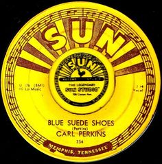 CLASSIC CARL PERKINS BLUE SUEDE SHOES