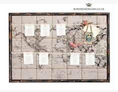 Vintage travel map table plans from Bohemian Dreams Wedding Favours, Wedding Stationery, Wedding Invitations, Vintage Travel, Vintage World Maps, Vintage Props, Travel Maps, Travel Photos, Travel Themes