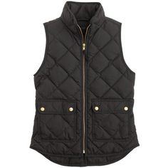 J.Crew Excursion Quilted Vest ($135) ❤ liked on Polyvore featuring outerwear, vests, vest, jackets, colete, j.crew, quilted zip vest, slim vest, j.crew vest and vest waistcoat