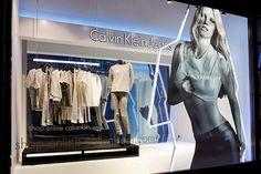 Calvin Klein windows by StudioXAG, London & Milan window display