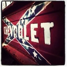 Chevy Tailgate with Rebel Flag! Jacked Up Trucks, Lifted Chevy, Chevy Trucks, Pickup Trucks, Chevy 4x4, Chevy Silverado, Rockabilly, Future Trucks, Chevy Girl