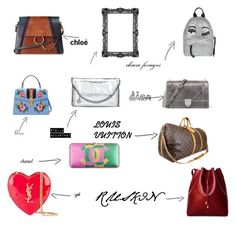 """dream bags"" by claudiaaaa-ii on Polyvore featuring Louis Vuitton, STELLA McCARTNEY, Chloé, Gucci, Yves Saint Laurent and Chiara Ferragni"