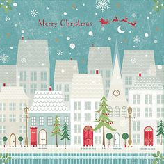 Buy Special Editions Pastel Houses Charity Christmas Cards, Box of 8 Online at johnlewis.com