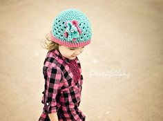 crochet spring beanie for baby girl to teen by stitchesbystephann