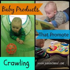 Baby Products That Promote Crawling – A mom and physical therapist talks about what products she uses with her baby.  She also talks about what to look for and what to avoid!
