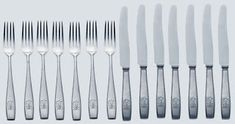 THE BERGHOF ADOLF HITLER PERSONAL DINNER TABLE SILVERWARE CUTLERY KNIFE FORK 14 PCS SILVER 800 MARKED SIGNATURE GERMAN WW2 PRICE $5999