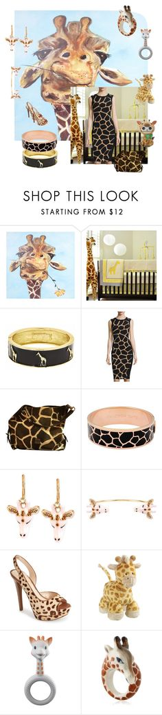 """113. Stuffed Giraffe"" by kristina-lindstrom ❤ liked on Polyvore featuring Pam Grace Creations, Fornash, Maggy London, Dooney & Bourke, Halcyon Days, Betsey Johnson, Jessica Simpson and Nach"