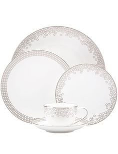 Starlet Silver place setting by Brian Gluckstein for Lenox.