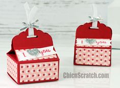 Scallop Top Valentines Box with Stampin' Up! Demonstrator Angie Juda - video tutorial