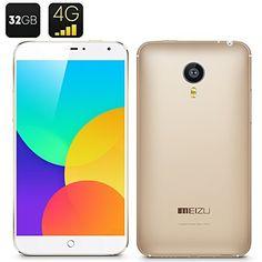 Meizu MX4 4G Smartphone - 32 GB de capacidad de memoria, MTK6595 Octa-Core, Sharp 5,4 pulgadas de pantalla, Versión Internacional (de oro) de Meizu, http://www.amazon.es/dp/B00UC1KS68/ref=cm_sw_r_pi_dp_NnDpvb15N4V14