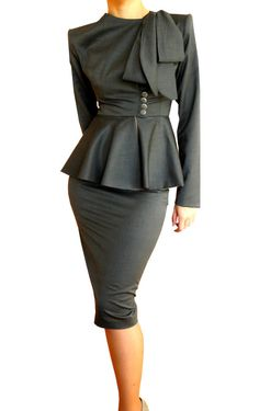 Vintage-look peplum suit